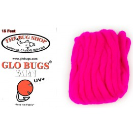 Glo Bug Yarn 15ft Cerise Colour