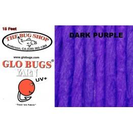 Glo Bug Yarn 15ft Dark Purple
