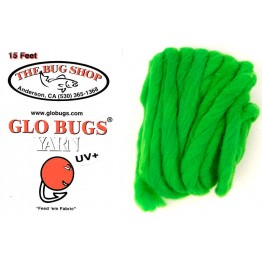 Glo Bug Yarn 15ft Emerald Colour