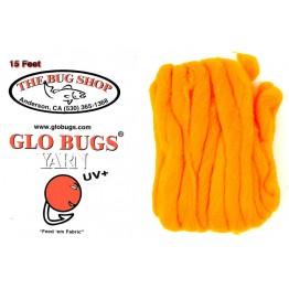 Glo Bug Yarn 15ft Steelhead Orange Colour