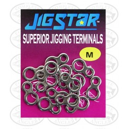 "Jig Star ""8"" Superior Jigging Terminals Solid Ring Small"