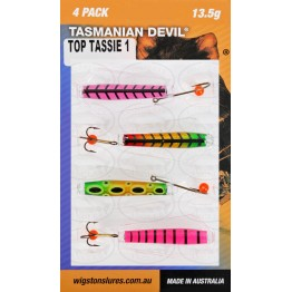 Tasmanian Devil Top Tassies #1 - 4 Lures