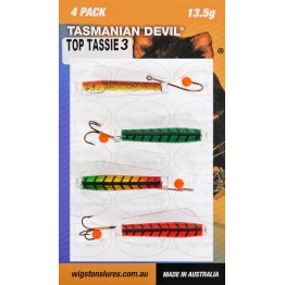 Tasmanian Devil Top Tassies #3 - 4 Lures