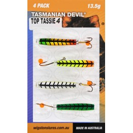 Tasmanian Devil Top Tassies #4 - 4 Lures