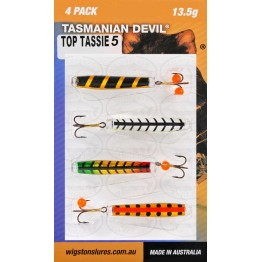 Tasmanian Devil Top Tassies #5 - 4 Lures
