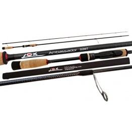 Lox Ambassador 80MT 8 Foot 2 Piece Spin / Soft Bait Rod