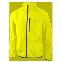 Thermatech Fluoro Yellow Pack Away Running Jacket Men's