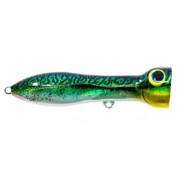 Nomad Chug Norris 150mm 80gm Popper Lure - Silver Green Mackerel