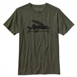 Patagonia Men's Flying Fish T-Shirt - Green - Small
