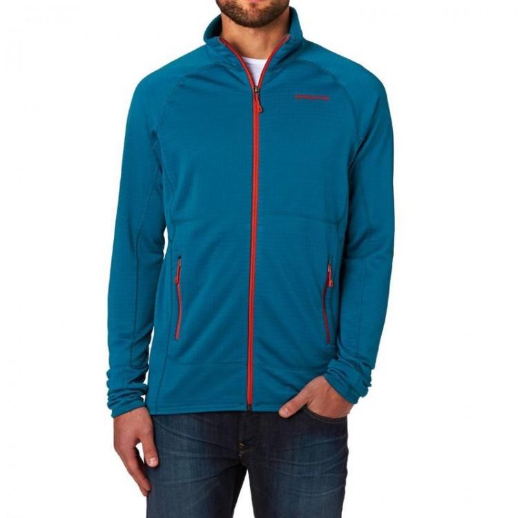 Patagonia Men s R1 Full Zip Fleece Jacket - Underwater Blue - Large 035b4f058