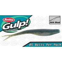 "Berkley Gulp 5"" Jerk Shad Blue Pepper Neon Glow"