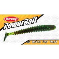 """Berkley Powerbait T-Tail Shad 2.5"""" Brown Pumpkinseed Softbait"""