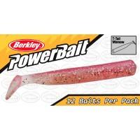 """Berkley Powerbait T-Tail Minnow 2.5"""" Pink Glow Softbait"""