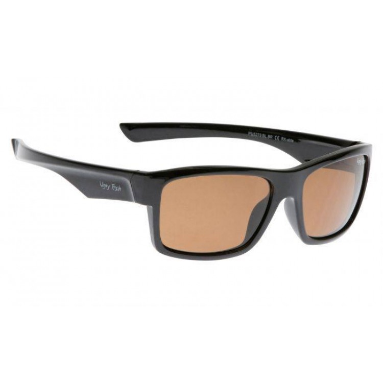 8f3f5d88af Ugly Fish Shiny Black Frame - Brown Polarised Sunglasses