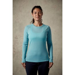 RAB Merino+ 120 Women's Baselayer Long Sleeve Tee - Cool Grey