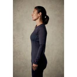 RAB Merino+ 120 Women's Baselayer Long Sleeve Tee - Ebony
