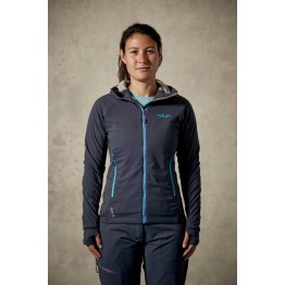RAB Alpha Flux Women's Fleece Jacket - Beluga