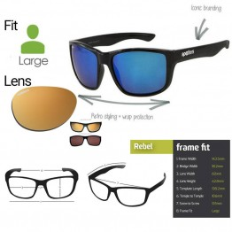 "Spotters ""Rebel"" Black Matte Sunglasses & Polarised Gold Lens"