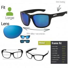 "Spotters ""Rebel"" Black Matte Sunglasses & Polarised Ice Lens"