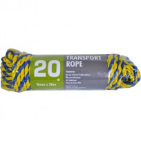 Transport Rope Blue/Yellow 8mm X 20m