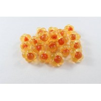 Cleardrift Soft Eggs Cluster Embryo Natural Orange with Red Dot Dot