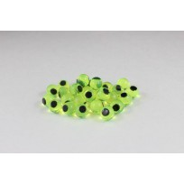 Cleardrift Soft Eggs 6mm Natural Chartreuse Embryo Black Dot