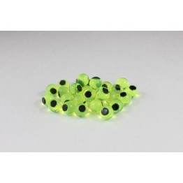 Cleardrift Soft Eggs 6mm Natural Chartreuse Embryo Black Dot