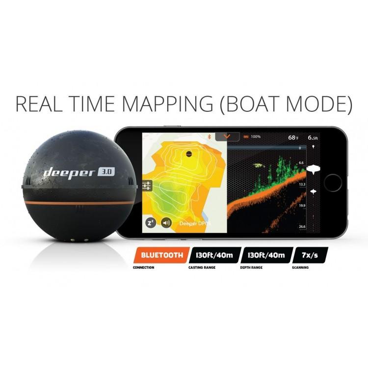 Deeper smart sonar pro wifi gps ideal fresh or salt water for Deeper pro plus fish finder