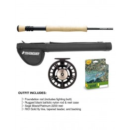 "Sage Foundation 9'0"" 6WT 4pc Fly Rod & Reel Set"