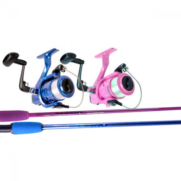 Shakespeare durango kids fishing combo pink rod reel for Youth fishing rod and reel combo