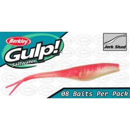 """Berkley Gulp Saltwater Jerk Shad 5"""" Pink Shine Softbait"""