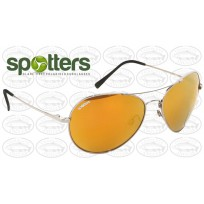 "Spotters ""Ace"" Aviator Style Polarised  Glass Lens Gold Mirror Finish"