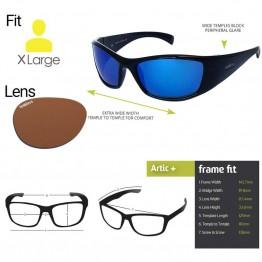 "Spotters ""Artic+"" Black Gloss Sunglasses & Polarised Photocromatic Penetrator Lens"