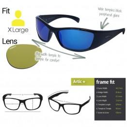 Spotters Artic+ Black Sunglasses & Xtreme Polarised Photochromic Yellow Lens
