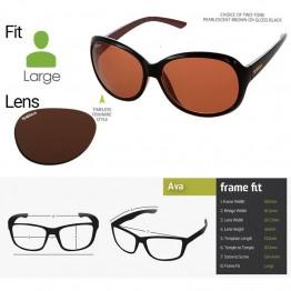 "Spotters ""Ava"" Brown Gloss Sunglasses & Polarised Photochromic Halide Lens"