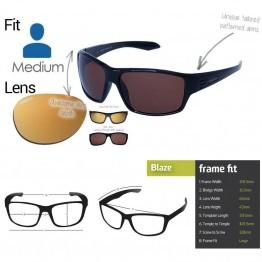 "Spotters ""Blaze"" Black Gloss Sunglasses &  Polarised Gold Leaf Mirror Lens"
