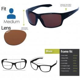 "Spotters ""Blaze"" Black Gloss Sunglasses & Polarised Photocromatic Penetrator Lens"