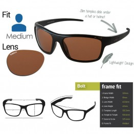 "Spotters ""Bolt"" Black Gloss Sunglasses & Polarised Photocromatic Penetrator Lens"