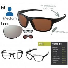 "Spotters ""Bolt"" Black Gloss Sunglasses & Polarised Platinum Mirror Lens"