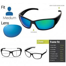 "Spotters ""Chaos"" Black Matte Sunglasses & Polarised Ice Blue Mirror Lens"