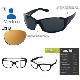 "Spotters ""Combat"" Black Matte Sunglasses & Polarised Gold Leaf Mirror Lens"