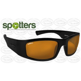 "Spotters ""Coyote+"" Black Gloss Sunglasses & Polarised Gold Leaf Lens"