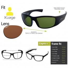 "Spotters ""Coyote+"" Black Gloss Sunglasses & Polarised Photocromatic Penetrator Lens"