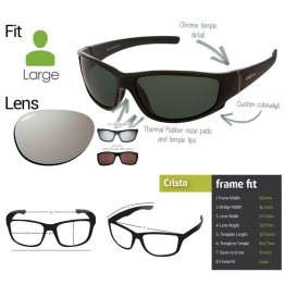 """Spotters """"Cristo"""" Glass Lens Glasses with Platinum Mirror Lens"""