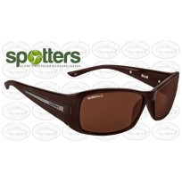 "Spotters ""Ellie"" Brown Gloss Sunglasses & Polarised Columbia Resin Copper Lens"