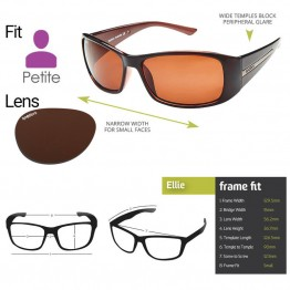 "Spotters ""Ellie"" Brown Gloss Sunglasses & Polarised Columbia Resin Copper Lens"