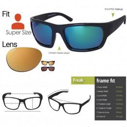 "Spotters ""Freak"" Black Gloss Sunglasses & Polarised Gold Leaf Mirror Lens"