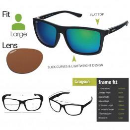 "Spotters ""Grayson"" Black Matte Sunglasses & Polarised Photochromic Penetrator Lens"