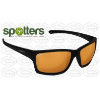 "Spotters ""Grit"" Black Matte Sunglasses & Polarised Gold Leaf Mirror Lens"