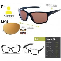 "Spotters ""Grit"" Black Matte Sunglasses & Polarised Gold Leaf Mirror Lens"
